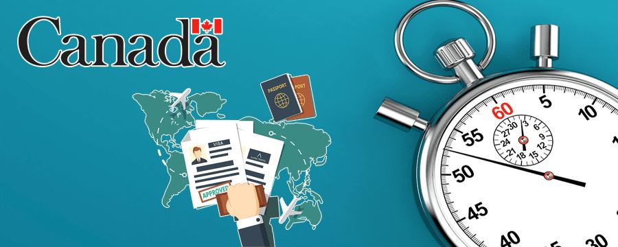 مدت زمان صدور ویزای تحصیلی کانادا